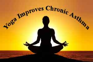 Chronic Asthma improves with practice of Yoga