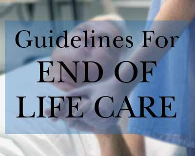 NICE guidelines on End of life care.
