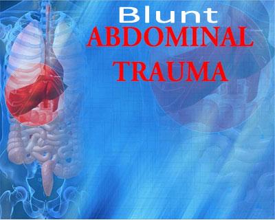 imaging guidelines in blunt abdominal trauma paediatrics