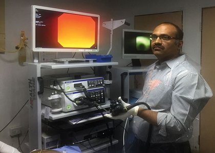 BGS Global Hospital uses Spy Glass to Treat Large Liver Tube Gall Stones without Surgery