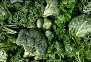 Daily intake of green leafy vegetables protects liver health