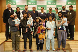 15 children from Kashmir treated for Congenital Heart Defect at Fortis