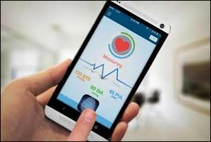 Blood Pressure with your fingertip with new smartphone device