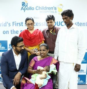 Apollo Children's Hospitals Performs World's first DUCTAL Stenting on the smallest baby