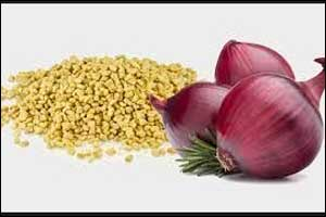 Fenugreek and onion are good for diabetes with heart disease